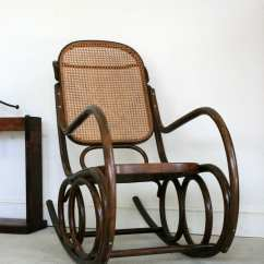 Bent Wood Rocking Chair Ergonomic No Back Beautiful 1930 39s Bentwood Thonet Style With