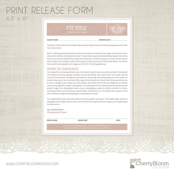 Photographer Release Form. TapEpGiles Babbidge Photography Episode ...