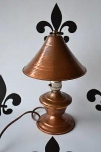 Antique Copper Desk Lamp Vintage Copper Lamp Primitive