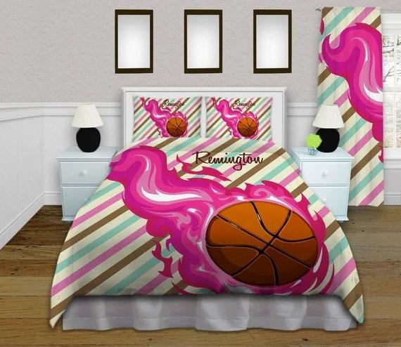 Girls Basketball Duvet Cover Teen Bedding by