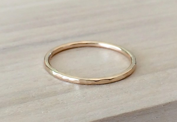 Gold Ring 14k Filled Stacking Minimalist Jewelry