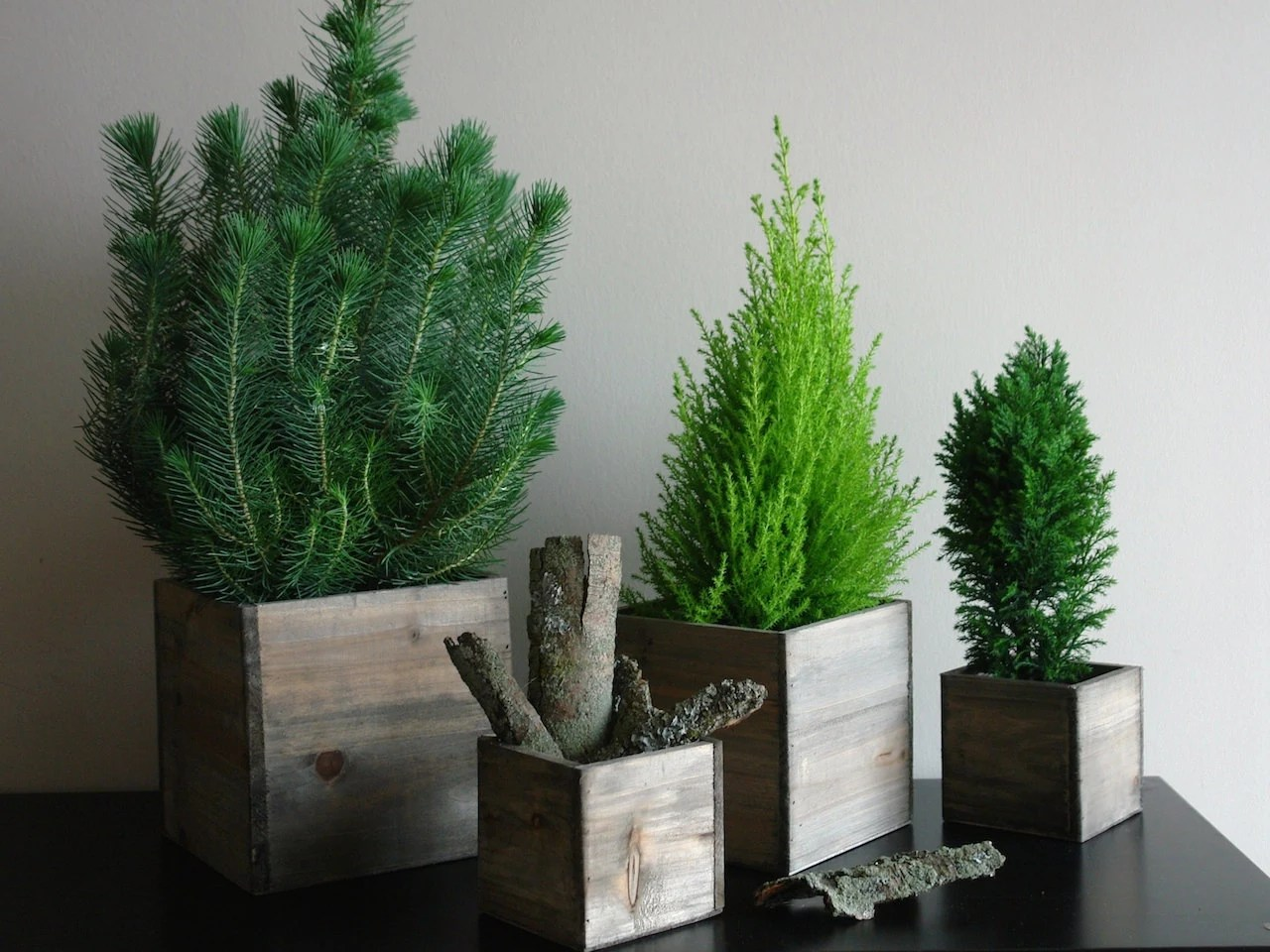 Items similar to wood vases wood boxes square wooden boxes centerpieces CHRISTMAS tree planter