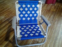 macrame lawn chair recycled chair frames woven by ...