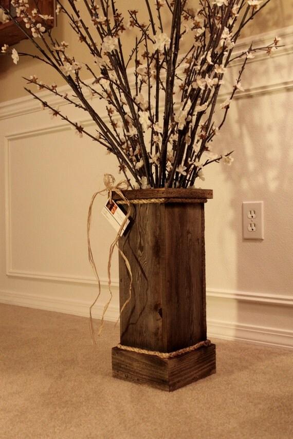 Rustic Reclaimed Wood Vase