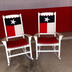 Custom Rocking Chairs Texas Chair Cover Rentals Rockford Il Flag And Rocker Cushions For Your Indoor Or