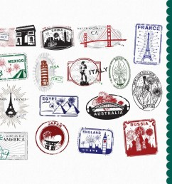 passport stamps clip art graphics travel clipart by  [ 1000 x 900 Pixel ]