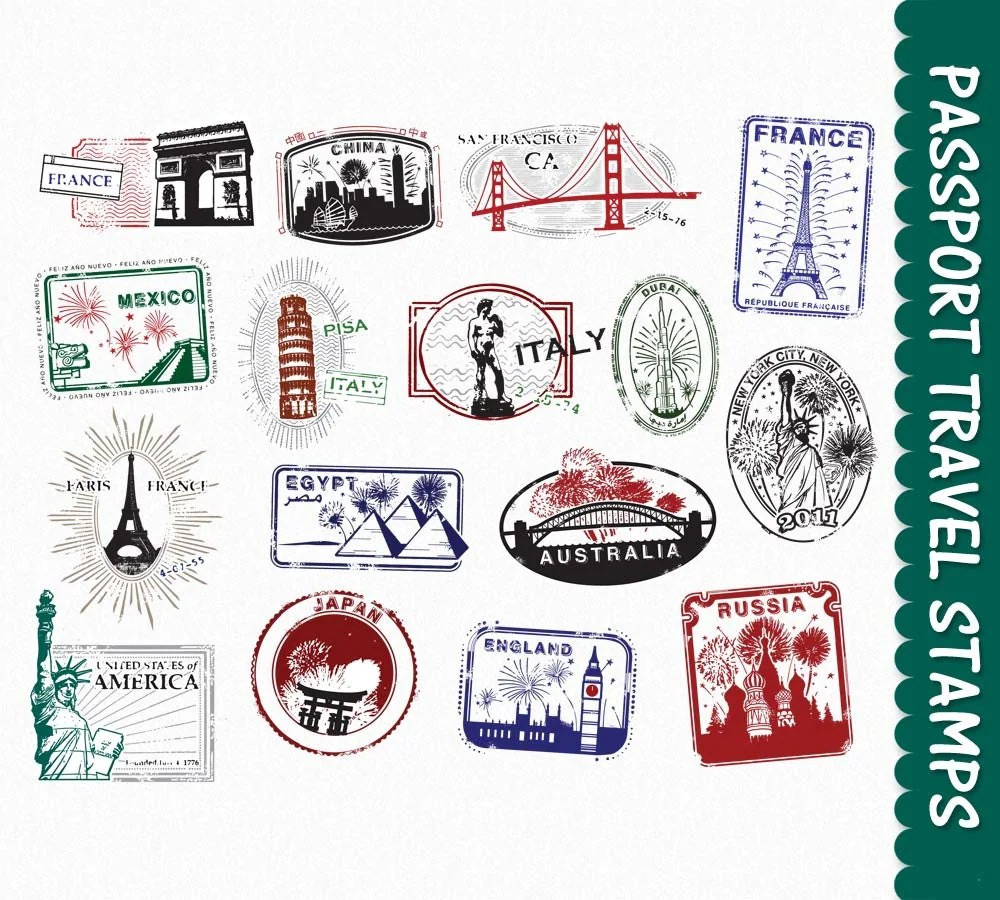 hight resolution of passport stamps clip art graphics travel clipart by