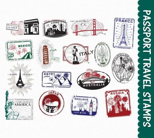 small resolution of passport stamps clip art graphics travel clipart by