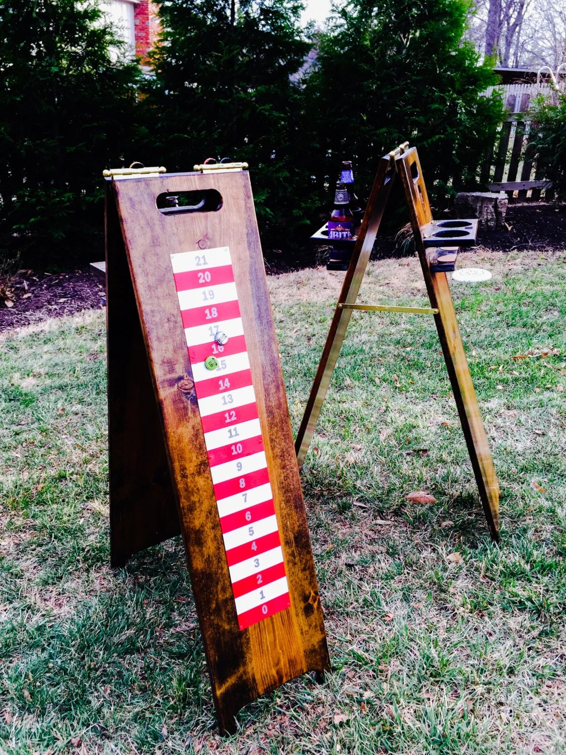 Backyard Games Scoreboard And Drink Holder