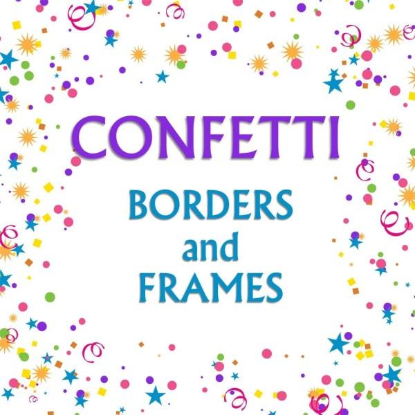 confetti borders clip art graphic