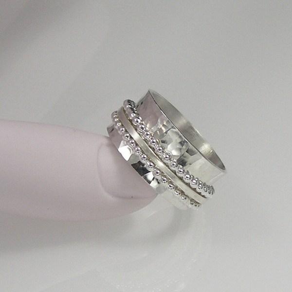 Sterling Silver Spinner Ring Meditation