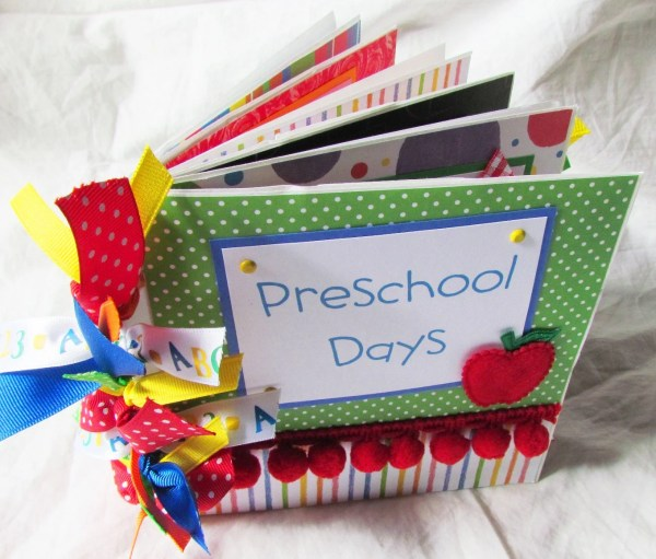 Kindergarten Scrapbook Paper and Albums