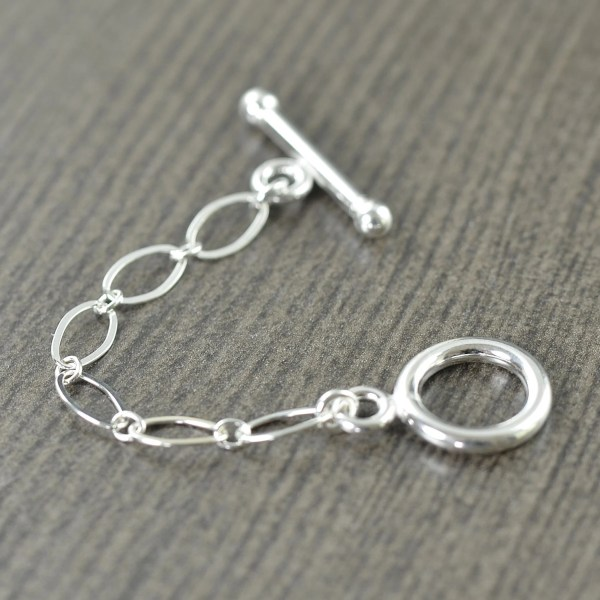 Sterling Silver Toggle Clasp Extender Necklace Extension 2