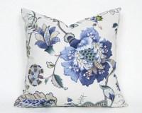 Blue Floral Pillows Cream Blue Green Pillow Covers Jacobean