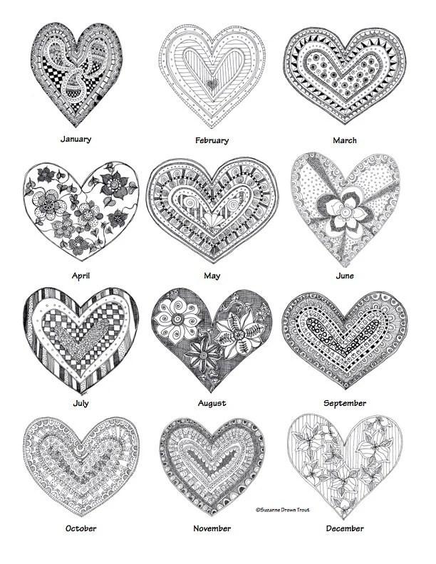 Items similar to Whimsical 2015 Heart Calendar on Etsy