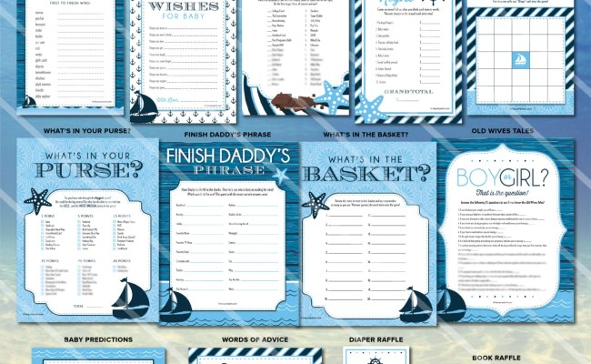 Nautical Baby Shower Games Sailboat Baby Shower Printable