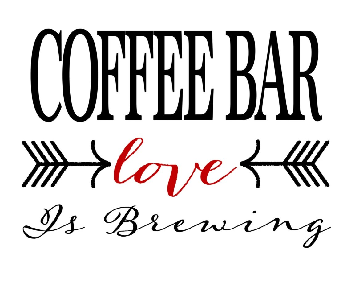 Download Coffee Bar sign Love is Brewing - Printable INSTANT ...