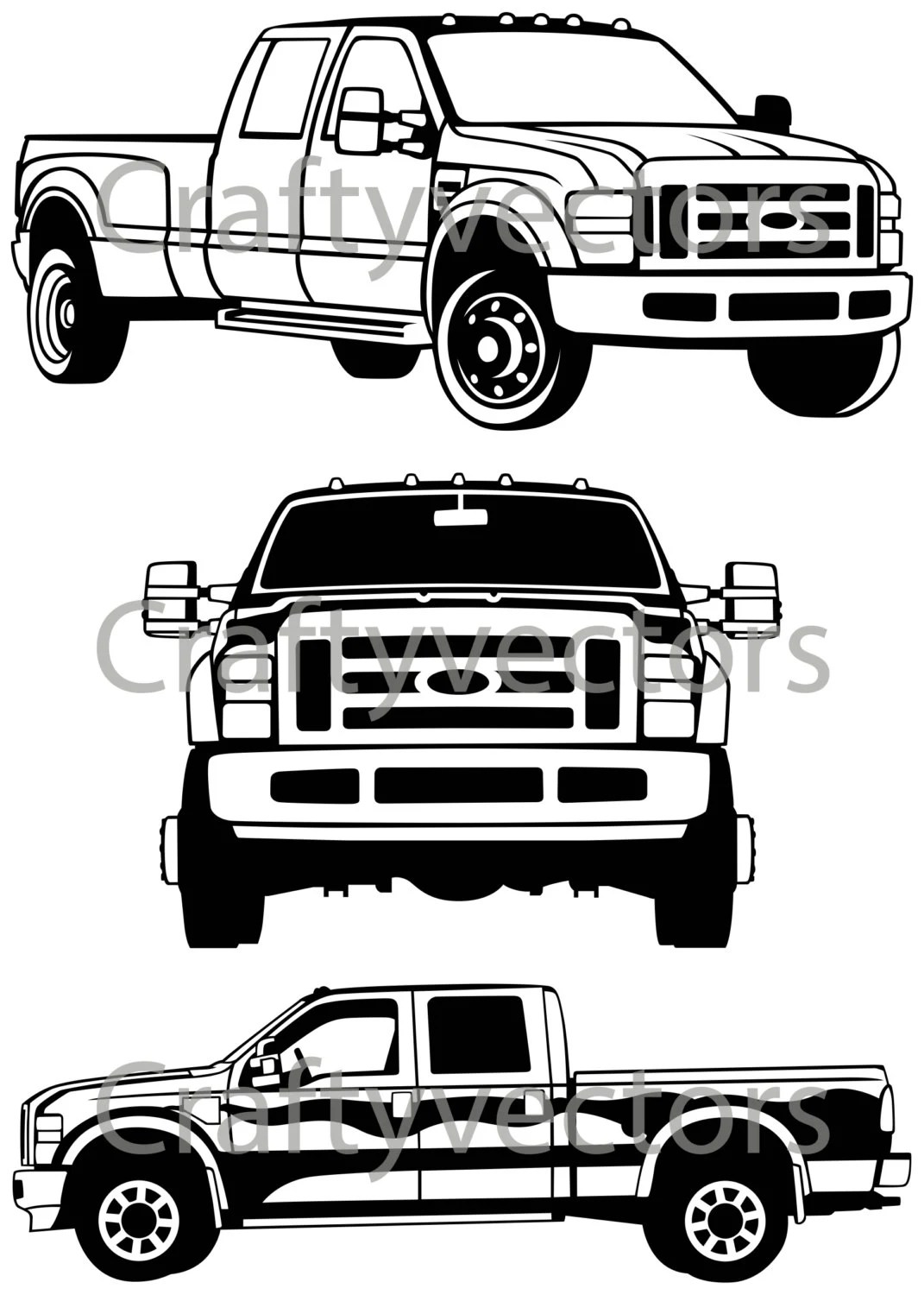 Ford F250 F350 Super Duty 6.7 Powerstroke Backlit Laser Cut