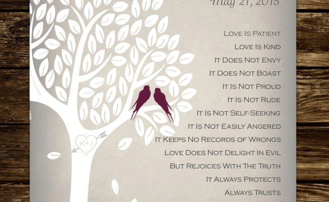 1 Corinthians 13 Wedding Gift Personalized By Lemonlimepaperie