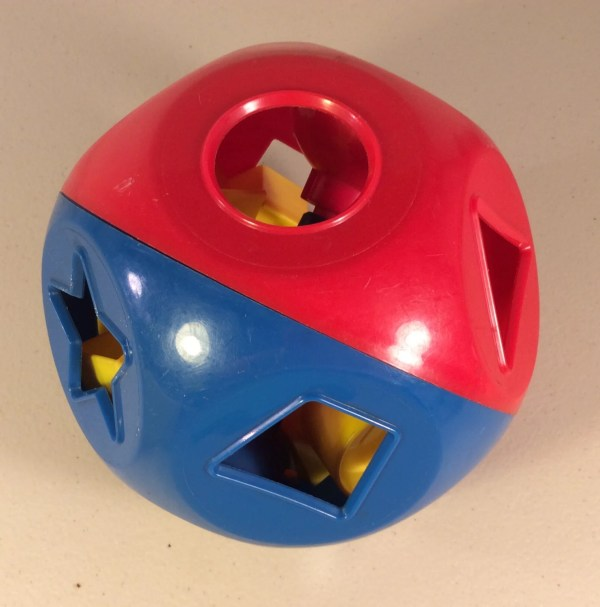 Vintage Tupperware Shape Ball Sorter Toy