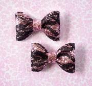 light pink glitter hair bows