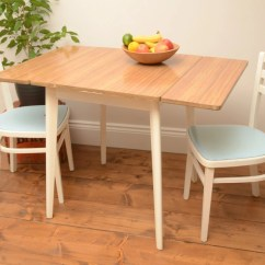 Drop Leaf Kitchen Table Chairs Open Back Dining Room Nice Vintage Formica And