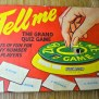 1950s Tell Me Game Metal Toy Quiz Vintage By Felterscottage