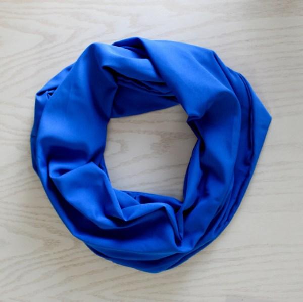 Handmade Infinity Scarf ROYAL BLUE Lightweight Fashion