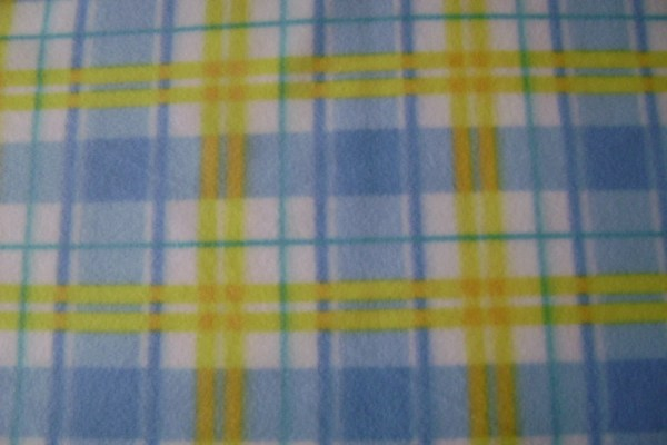 Blue Yellow & White Plaid Fleece Fabric Ggselections