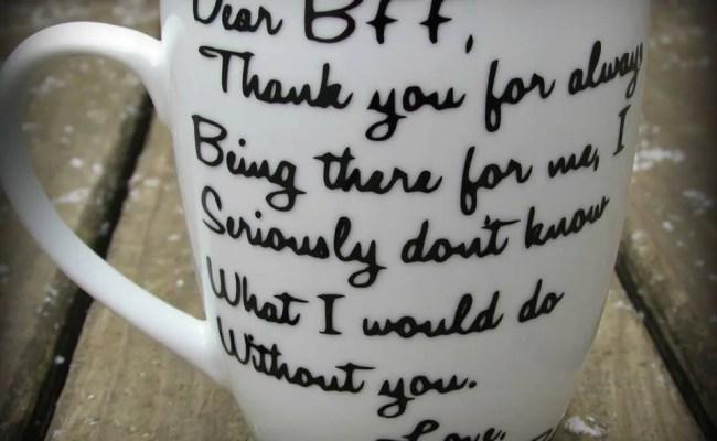 Personalized Best Friend Mug Dear Bff Mug Thank You Gift