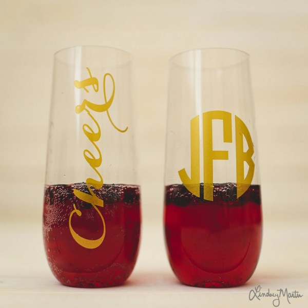 Personalized Champagne Flute Acrylic Shatterproof