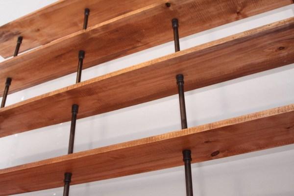 Hemingway Wall Mount Bookcase Reclaimed Wood Bookshelf