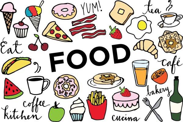 food clip art hand drawn