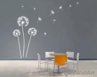 Dandelion Blowing in the Wind Wall Decals Dandelion Wall Art