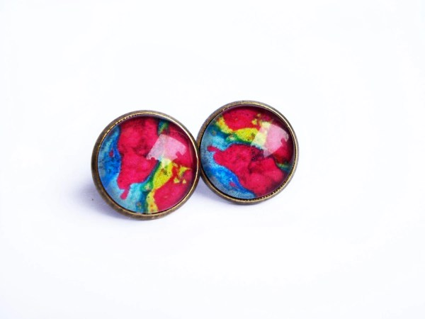 Colored Stud Earrings Unique