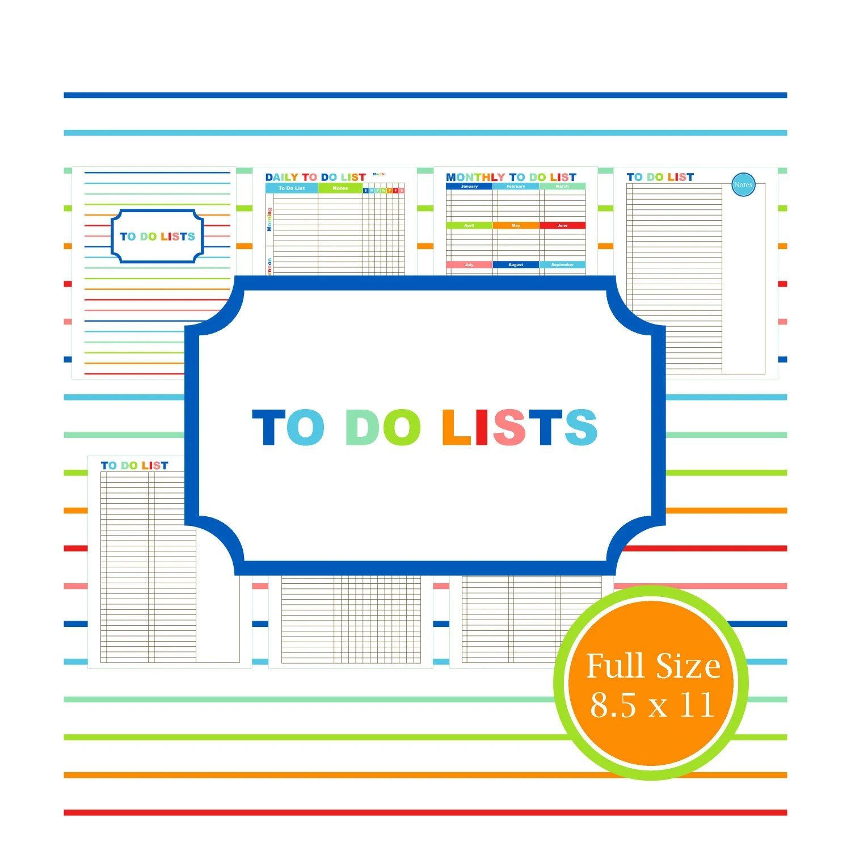 To Do Kit Printable To Do List Planner Organizer Student