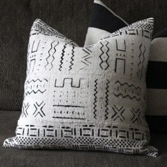 Clean Sofa Fabric Nixon Leather African Mudcloth Throw Pillow Cover 18 X White