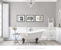 Bathroom Decor Set of 3 Photographs or Canvas Set Bathroom