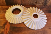 Popular items for milk glass shades on Etsy