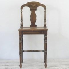 Vintage Vanity Chair Strathwood Zero Gravity Antique Wood Small