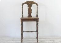 Antique/Vintage Vanity Chair Wood Vanity Chair Small Wood