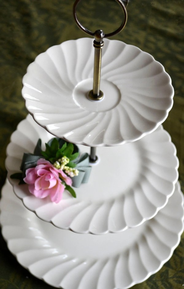 3 Tiered White Serving Tray Wedding Cake Stand Three Tier