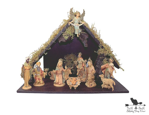 Nativity Set & Stable Vintage Fontanini 12 Piece Heirloom