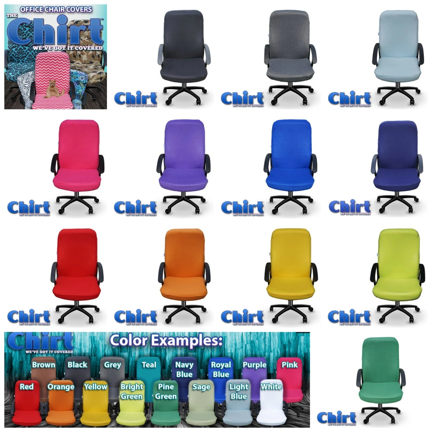 colorful office chairs hanging chair tutorial solid color chirt shirt custom cover