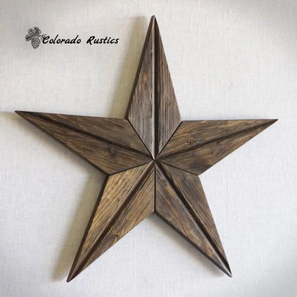 Rustic Star Wood Wall Art Texas