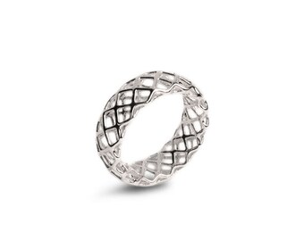 Items similar to Huge Diamond Ring in solid Sterling