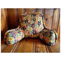 Floral Husband Pillow 1970s Funky Pillow 1970s Retro Pillows