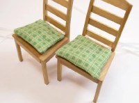 Chair Cushions Pads Green Kitchen 1:12 Dollhouse Miniatures