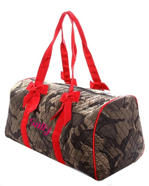 Military Camo Large Quilted Duffle Bag Great Dance