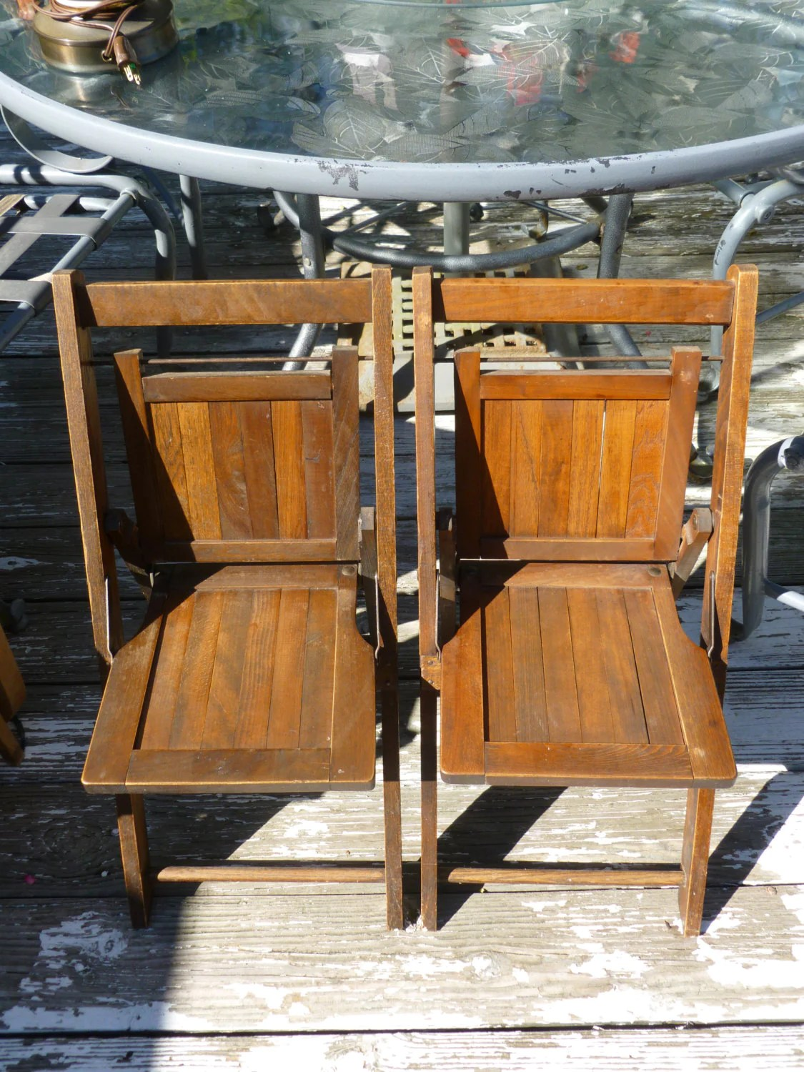 Fold Up Chairs 2 Antique Wooden Childrens Chairs Fold Up Great Patina